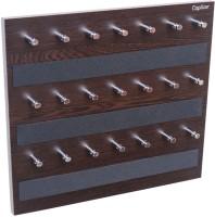 Captiver Crown 21 Key Standard Hanger Wenge/Holder Wall Mounted Stand Wooden Wood, Brass, Steel Key Holder(21 Hooks, Black)