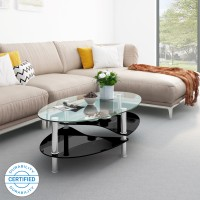 Flipkart Perfect Homes Eclipse Glass Coffee Table(Finish Color - Black)