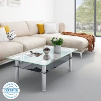 Flipkart Perfect Homes Cluedo Glass Coffee Table(Finish Color - Glass)