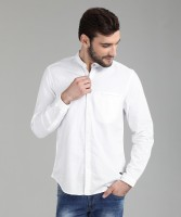 John Players Men Solid Casual White Shirt