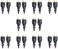 CE  TV-out Cable 1.5-Feet, Supports Ethernet, 3D and Audio Return, UltraHD 4K Ready, 10 Pack(Black, For PlayStation, 0.5 m)