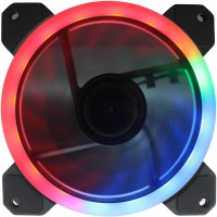 BBC 3 FAN DUALRING FAN 120MM RGB WITH REMOT AND CONTROLLER Cooler(BLACK WITH RGB LED)
