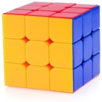 Gift World Rubik's Cube 3x3x3 Puzzle Extra Smooth High Speed Sticker less(1 Pieces)