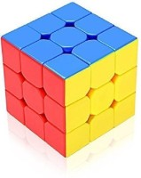 GENCLIQ Stickerless 3x3x3 High Speed Magic Cube Puzzle Toy (1 Pieces)(1 Pieces)