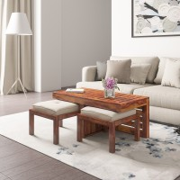 Flipkart Perfect Homes PureWood Sheesham Coffee Table(Finish Color - Teak)