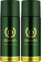 Denver Hamilton Deo Combo Body Spray  -  For Men(330 ml, Pack of 2)