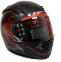 LS2 Roller Black Red Motorbike Helmet(Red, Black)