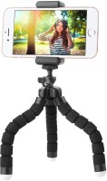 TECH-X 10 inch Flexible Gorillapod Tripod with Mobile Attachment for DSLR, Action Cameras & Smartphones(Black And White) Tripod(Black & White, Supports Up to 300)