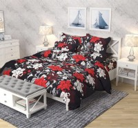 MR SHETTY 144 TC Polycotton Double 3D Printed Bedsheet(Pack of 1, Multicolor)