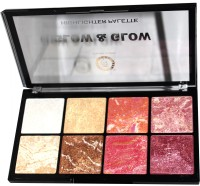 Colors Queen Professional Serious 8 Shade Glow Glow Kit(multicolor)