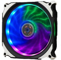 BBC 3 FAN 120MM RAINBOW LED Cooler(black and white)