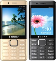 Ssky S1000 Neo Combo of Two Mobiles(Gold,Grey)