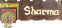 Artysta Wooden Wooden Plain Name Plate with Madhubani & Dhokra Art- Gate Name Plate Door Name Plates Family Name Plates Home Decorative Items Home Dcor Accents Name Plate for House Name Plate(Brown)