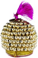THE HOLY MART Golden Topi/ Cap with Necklace & Bangles (1 size) Deity Ornament(KRISHNA, Balgopal, Govinda, LADOO GOPAL, Hanuman, Radha krishna, Durga Devi, OTHER GODS,)