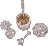 Shreeng silver plated pooja article no.4 5pcs. Stainless Steel(5 Pieces, Silver)