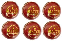 Hightop Online Shopping Set Of 6 Match Stamp Leather Cricket Ball 2 Part Cricket Leather Ball(Pack of 6, Red)