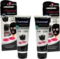Ontiq Mundo Charcoal Mask Cream HIGH QUALITY ANTI-BLACKHEAD Oil-Control Face Mask (Pack of 1)(260 g)