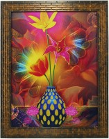 Indianara IndrFloral1453 Digital Reprint 13 inch x 10.6 inch Painting
