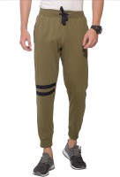 Alan Jones Colorblock Men Green Track Pants