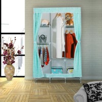 58fa8d30d62 Flipkart SmartBuy 3-Door 8-Shelf PP Collapsible Wardrobe(Finish Color -  Green