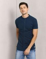 Metronaut Men's Self Design Casual Green Shirt