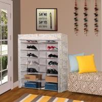 Flipkart SmartBuy 2-Door 14-Shelf Metal Collapsible Shoe Stand(Multicolor, 14 Shelves)