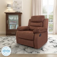 Flipkart Perfect Homes Costello Fabric Manual Recliners(Finish Color - Brown)