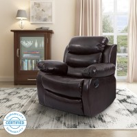 Flipkart Perfect Homes Costello Leatherette Manual Recliners(Finish Color - Brown)