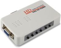TechGear HD VGA To Rca AV Signal TV S-video Converter Box Adapter Media Streaming Device(White)