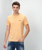 Blackberrys Self Design Men Round Neck Beige T-Shirt