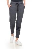 Alan Jones Self Design Women Dark Blue Track Pants