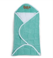 Miss & Chief Hooded Baby Wrapper- Sea Green(Polyester, Green)