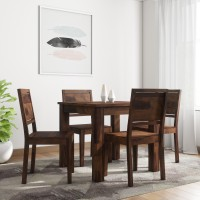 Induscraft Arabia Sheesham Solid Wood 4 Seater Dining Set(Finish Color - Brown)