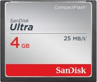 SanDisk ULTRA 4 GB Compact Flash Class 4 25 MB/s  Memory Card