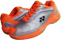 Yonex SRCR 65 R Badminton Shoes For Men(Silver, Orange)