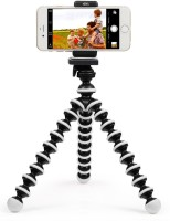 TECH-X 10 inch Flexible Octopus Tripod with Mobile Attachment for DSLR, Action Cameras & Smartphones(Black And White) Tripod(Black& White, Supports Up to 270)