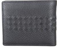 ADAMIS Men Black Genuine Leather Wallet(6 Card Slots)