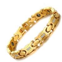 University Trendz Stainless Steel Gold-plated Bracelet