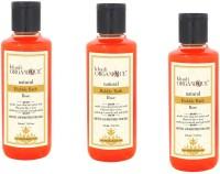 Khadi Organique Khadiorganique Rose Bubble bath -pack of 3(630 ml)