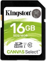 Kingston Canvas Select Camera card 16 GB SDHC UHS Class 1 80 MB/s  Memory Card