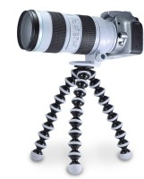 BJORK Best buy new arrival fully flexible Portable & Foldable Camera & Mobile Tripod with Mobile Clip Holder Bracket Fully Flexible Mount Cum Tripod Stand with Three-Dimensional Head & Quick Release Plate Gorilla Tripod 10