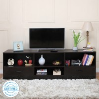 Home Full Bliss Engineered Wood TV Entertainment Unit(Finish Color - Wenge)