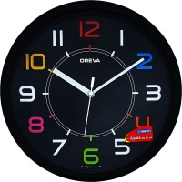 Ajanta Analog 25.5 cm X 4 cm Wall Clock(Black, With Glass)