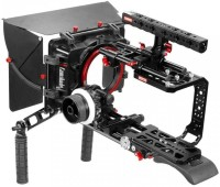 CAMTREE Blackmagic Ursa Mini Handheld Camera Cage Shoulder Pad Mattebox Follow focus Kit w top handle Tripod Mounting plate (CH-BMUM-SK) Camera Rig
