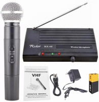 Divinext VHF Wireless Microphone System 200ft Wireless Range Rider Rx-68 Very High Frequency (VHF) Wireless Cordless Portable Handheld Transmitter Microphone System with Receiver for Public Address System, Studio, Karaoke, Radio, Live-performances, Conference Halls, Musical Shows, Opera, Public Spee