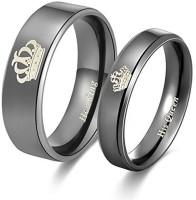 Divastri Stainless Steel Titanium Plated Ring Set