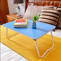 FurnCentral Engineered Wood Portable Laptop Table(Finish Color - Blue)