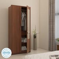 Spacewood Apex Engineered Wood 2 Door Wardrobe(Finish Color - WALNUT RIGATO, Mirror Included)