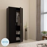 Spacewood Apex Engineered Wood 2 Door Wardrobe(Finish Color - NATURAL WENGE)