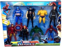 Toy Arena Avengers Action Figures of 8 Super Heroes(Multicolor)